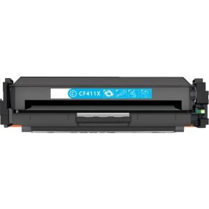 HP 411X (CF411X) Cyan Compatible High Yield Toner Cartridge with newest CHIP