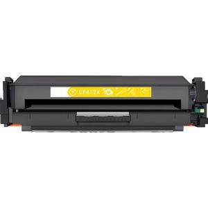 HP 412X (CF412X) Yellow Compatible High Yield Toner Cartridge with newest CHIP